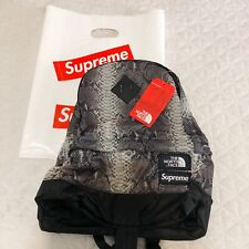 Supreme x The North Face snakeskin Backpack Black AUTHENTIC