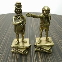 1968 Peerage England Brass Figures Dickens Micawber J Potter Mr Pickwick Bookend