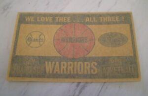 Vintage Dri-Mark San Francisco Sports Decal; Warriors, 49'ers, Giants  NM,unused
