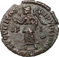 GRATIAN 367AD Authentic Ancient Roman Coin Lugdunum mint RARE Victory  i20280