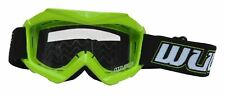 NEW WULFSPORT GREEN KIDS OFF ROAD GOGGLES MOTOCROSS QUAD YOUTH CHILDS KX KXF KL
