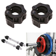 2pcs Lifting Weight Bar Collars Gym Standard Barbell Lock Clamp Buckle Y7w