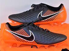 Nike Obra II 2 Elite FG ACC Black & Orange Soccer Cleats Sz 9.5 Ah7305 080