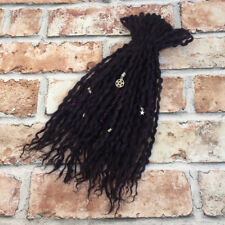 Black Double Ended Wool Dreadlocks, Dreads  - Choose your length & Amount