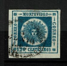 Uruguay SC# 16, Used, two small, top margin thins - S12151