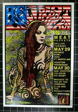 RED HOT CHILI PEPPERS - FRANK KOZIK SIGNED POSTER  - DALLAS TX - MAY 29-30 1990