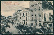 Napoli Torre del Greco Capotorre Tram cartolina XB1437