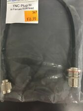 """Cable N Female Bulkhead to RP*TNC Male Plug Straight RG174 Jumper Pigtail 12"""""""