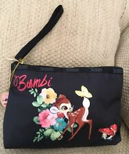 NWT DISNEY LESPORTSAC BAMBI WRISTLET MAGIC MEADOW ESSENTIAL BLACK PURSE SOLD OUT