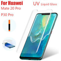 Full Glue Screen Protector For Huawei P30 Pro Mate 20 UV Tempered Glass Film F1