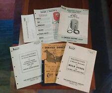1957 Lincoln Welder Lincwelder Ac-180T Operating Manual Parts List Weldirectory