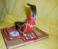 Steampunk Red Bird Assemblage Proceeds To Audubon Society Protect Our Birds