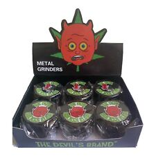 More details for 6 x metal herb grinders. the devils brand,the devil smokes kush