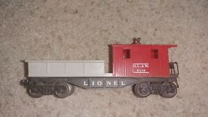 Lionel O Scale Work Caboose Red Grey D.L. & W. 6119 Rolling Stock