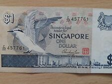Singapore $1 Banknote, Bird Series of Year 1976-1984, EXTRA FINE & NICE Note