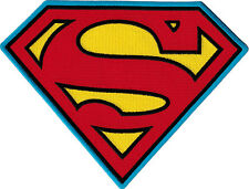 """44002  Superman S Shield Man Of Steel DC Comic LARGE Sew Iron On 8"""" BACK PATCH"""