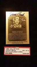 1989 plaque Hall of Fame Plaque HOF johnny bench  Autographed PSA/DNA nmmt 8