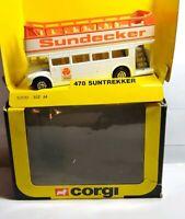 CORGI 1983 DIECAST #478 SUNTREKKER SUNDECKER OPEN TOP BUS - BOXED