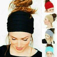 Women Yoga Sport Wide Headband Elastic Wide Stretch Hair Band Head Wrap Girls