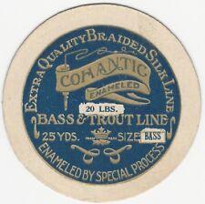 Vintage Cohantic Enameled Bass & Trout Fishing Line Card Label