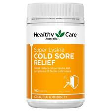 Healthy Care Super Lysine Cold Sore Relief 1000mg 100 Tablets Reduce Cold Sores
