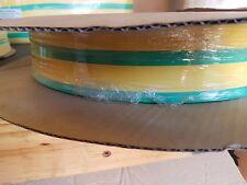 *NEW* 50m of Grn/Yel 41mm Heat Shrink Tubing Flat length - 2:1 Shrink Ratio
