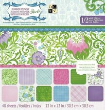 "DCWV Bouquet de Fleur 12"" x 12"" Specialty Paper Pad 48 sheets, New"
