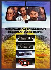 1983 Supertramp Rock Band photo Sparkomatic Car Sound vintage print ad