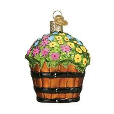 WHISKEY BARREL WITH FLOWERS OLD WORLD CHRISTMAS GLASS GARDEN ORNAMENT NWT 36263