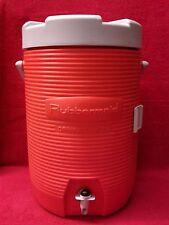 3 Gallon Orange Rubbermaid Water Drink Cooler, Construction Sports 12 Quart Jug