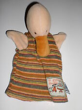 Doudou marionnette oie canard grand famille MOULIN ROTY