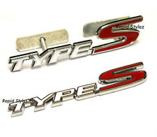 Type S Grill + Rear Badge Emblem White Red Honda Civic Integra FN2 EP3 EK 42ws