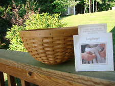 "Longaberger Retired Warm Brown 9"" Diameter Bowl Basket *New*"