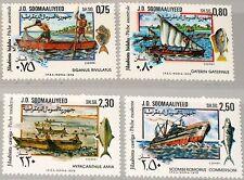 SOMALIA 1979 274-77 467-70 Fischerei Fishery Development Boats Boote MNH
