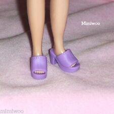 """12"""" Neo Blythe Pullip BJD Doll Fashion Wear Open End High Heel Shoes Purple"""