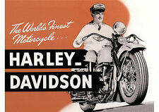 1940's Harley Davidson motorcycles poster