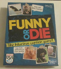 FUNNY OR DIE The Hilarious Caption Board Party Game - Hasbro Gaming - Brand New