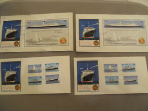 1979 TRISTAN DA CUNHA - 4 First Day Covers QE2 SHIP VISIT 1 Signed 3 UNSIGNED