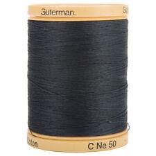 Gutermann Natural Cotton Thread Solids 876yd-Iron Grey, 800C-5902