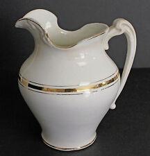 Antique Late Victorian Art Nouveau Haynes Balt Vase Pitcher Early 1900 Gold Trim