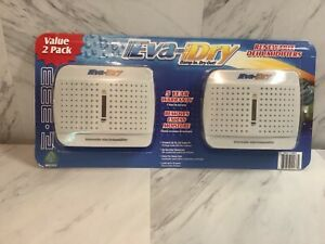 New Child Pet Safe Eva-dry E-333 Renewable Rechargeable Mini Dehumidifier 2-PACK