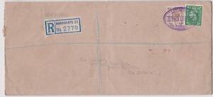 (K114-13) 1940s GB WWII 5 1/2d Barclay's bank wax seal REG no.2779 (M)