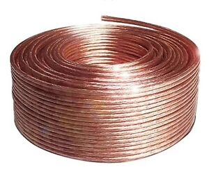 50m Speaker cable 2x2,5mm²  14 AWG Transparent flexible Fine Quality Audio Wire