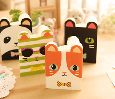 4 x Booklets Cute Animal Panda Fox Cat Pad Fun Kids stationary Memo Note Book