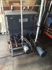 Used Grey Baldor Water Tank With 2 Pump Industrial Motor1 12 Horse Power