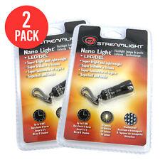 New Streamlight 73001 Nano Light Miniature Keychain LED Flashlight Black Bright