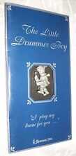 Collectible Pewter Little Drummer Boy Pin on Card By Roman, Inc 1994
