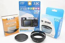 JJC 4PC SET for Fujifilm X100T -49mm UV filter+Cap + Lens Hood (BK)+Guard Film