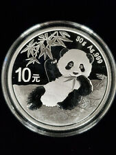 2020 China Silver Panda 30g 10 Yuan Bu Coin in Capsule Live Ready to Ship