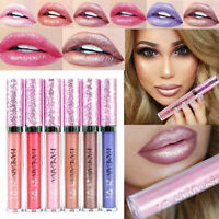 6 Colors Shimmer Liquid Lip Gloss Long Lasting Lipstick Waterproof Liner Makeup
